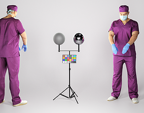 Young surgical doctor working 160 3D model realtime