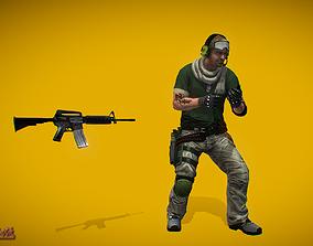 3D asset Battle Royale Soldier 3