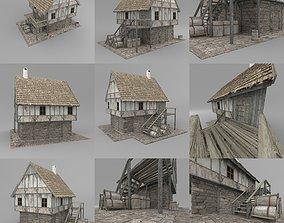 Fantasy house medieval 3D model realtime