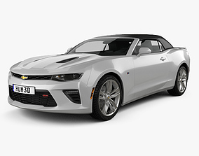3D Chevrolet Camaro SS convertible with HQ interior 2016