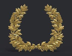 accorn 3D print model Wreath of oak leaves