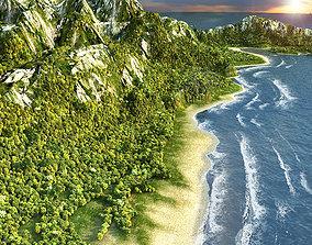 Island Beach 3D model