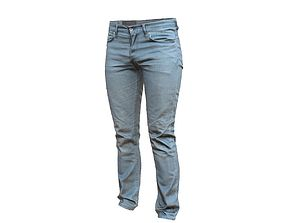 Blue Jeans Pants 3D asset