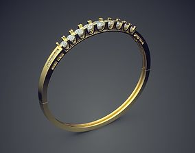 3D print model Bracelet with Diamonds 1230
