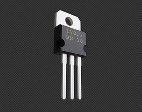 3D asset Transistor 7812 - Electronic parts
