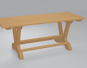 interior Wooden table 3d model