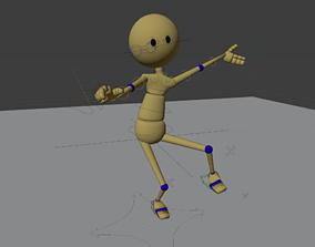 Rigged Friendly Robot 3D asset