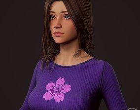 3D model Girl in jeans