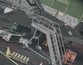 Aircraft Deck Props Set 3D model