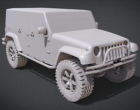 2011 Jeep Wrangler JK 3D print model