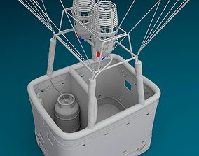 3D model clouds Hot Air Balloon