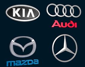 3D model Car Logos - Audi Mazda Kia Mercedes Benz