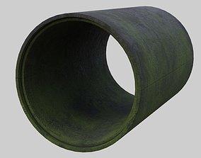 Concrete Pipe 1C 3D asset