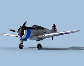 Curtiss P-36C Hawk V01 USAAF 3D model