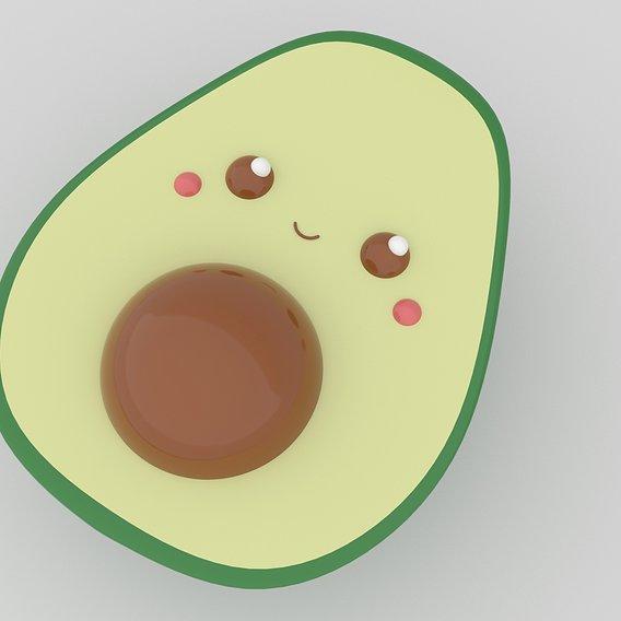 Cute Avocado for 3D Printing