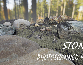VR / AR ready nature Stones Photoscanned 3d models