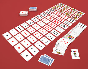 3D model Low Poly Playing Cards