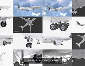 Commercial Jet Airliners 3D model