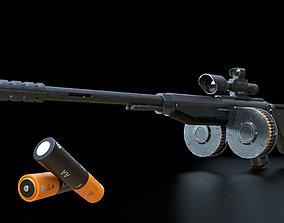 futuristic weapon plasma rifle AA standard 3D asset