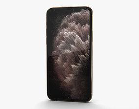 Apple iPhone 11 Pro Max Gold 3D model ios