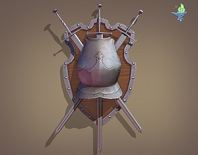 Ornamental Shield 3D model