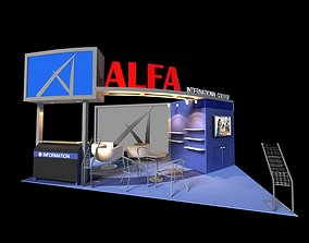 Alfa International College 3 x 6 Booth 3D model