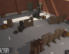 Polygon for paintball - old factory 3D model