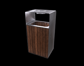 low-poly Trashcan Low-poly Game Ready Model