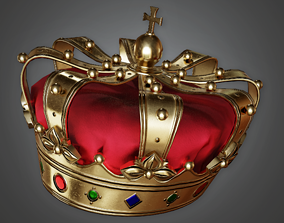 Royal Crown Hat - HAT - PBR Game Ready 3D model