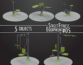 3D Street Fitness Equipment 5objects 05
