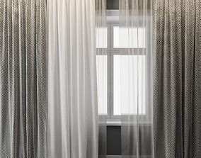 3D model tulle Curtains
