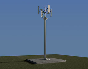 3D model Vertical wind turbine