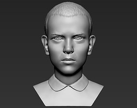 Eleven Stranger Things bust 3D printing ready stl obj