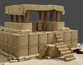 3D model Military Trench Tower