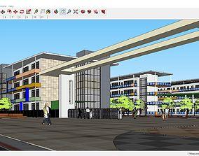 3D model Sketchup school G10