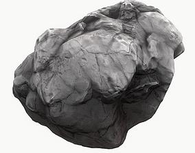 3D asset Meteor Asteroid Rock 4K