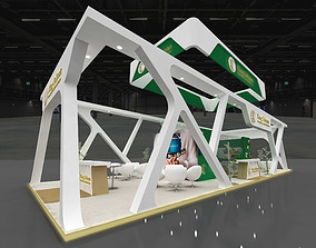3D Exhibition Stand Booth 98sqm