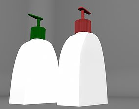 Antiseptic Sanitizer Bottles Low-poly 3D model realtime