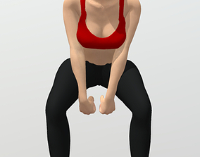 3D model Rigged fitness girl