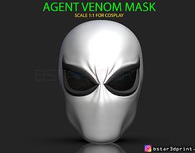 The Agent Venom Mask - Marvel Helmet 3D print model