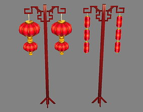 3D model Ancient Chinese Street Lamps-Festival