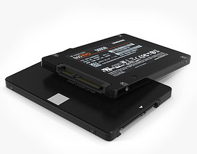 Samsung 860 EVO 3D model drive