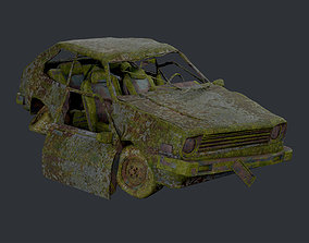 3D asset Apocalyptic Damaged Destroyed Vehicle Car 2