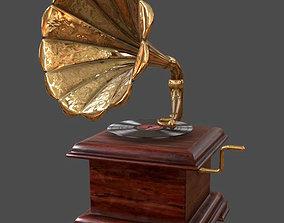 3D model Gramophone Music Box Record Player