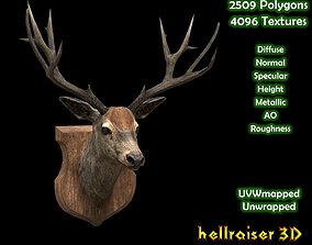 3D model Deer Head - PBR - Textured