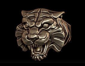 3D printable model tiger skull