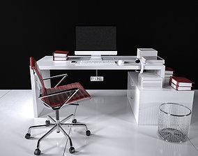 3D Office Desk - Interior Office Furniture 02