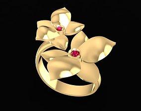3D print model 1664 Diamond Flower Ring
