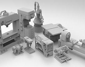Workshop furniture for 28mm 3D printable model
