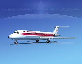 3D model Douglas DC-9-30 TWA